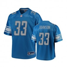 Youth Detroit Lions #33 Kerryon Johnson Blue Player 2018 Draft Jersey