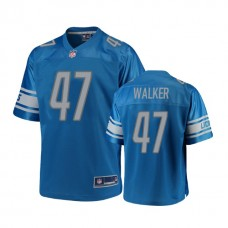 Youth Detroit Lions #47 Tracy Walker Blue Player 2018 Draft Jersey