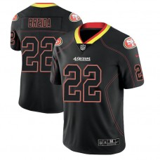 San Francisco 49ers #22 Matt Breida 2018 Lights Out Color Rush Limited Black Jersey