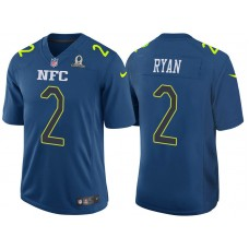 2017 Pro Bowl NFC Matt Ryan Blue Game Jersey