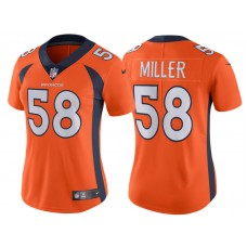 2017 Denver Broncos #58 Von Miller Orange Vapor Untouchable Limited Jersey
