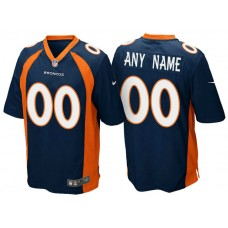 Denver Broncos Navy Blue Game Customized Jersey