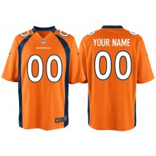 Denver Broncos Orange Game Customized Jersey