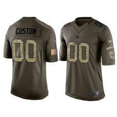 New York Giants Olive Camo Salute to Service Veterans Day Customized Jersey