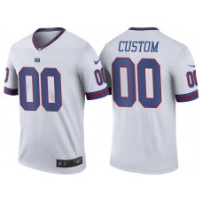 New York Giants White Color Rush Legend Customized Jersey