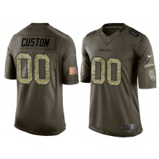 Seattle Seahawks Olive Camo Salute to Service Customized Jersey