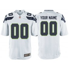 Seattle Seahawks White Game Customized Jersey