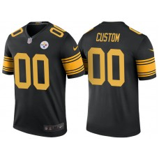 Pittsburgh Steelers Black Color Rush Legend Customized Jersey