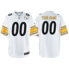 Pittsburgh Steelers White Game Customized Jersey
