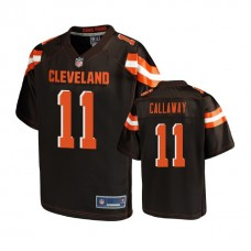 Cleveland Browns #11 Antonio Callaway Brown Pro Line Player Jersey