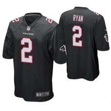 Atlanta Falcons #2 Matt Ryan Black Game Jersey
