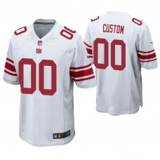 New York Giants White Game Customized Jersey