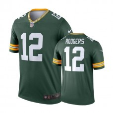 Green Bay Packers #12 Aaron Rodgers Green Legend Jersey
