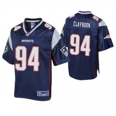 New England Patriots #94 Adrian Clayborn Navy Pro Line Player Jersey