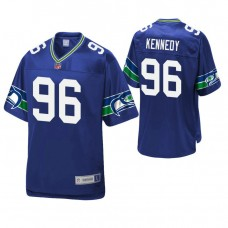 Seattle Seahawks #96 Cortez Kennedy Royal Pro Line Retired Player Jersey