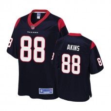 Houston Texans #88 Jordan Akins Navy 2018 Draft Player Jersey
