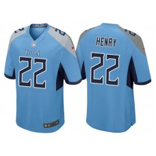 Tennessee Titans #22 Derrick Henry Light Blue 2018 Game Jersey