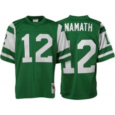 New York Jets #12 Joe Namath Green Authentic Throwback Jersey