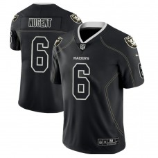 Oakland Raiders #6 Mike Nugent 2018 Lights Out Color Rush Limited Black Jersey