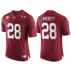 Alabama Crimson Tide #28 Anthony Averett Crimson 2017 National Championship Bound Limited College Football Jersey