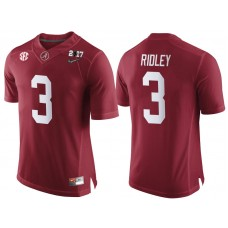 Alabama Crimson Tide #3 Calvin Ridley Crimson 2017 National Championship Bound Limited College Football Jersey