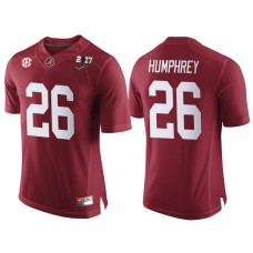 Alabama Crimson Tide #26 Marlon Humphrey Crimson 2017 National Championship Bound Limited College Football Jersey