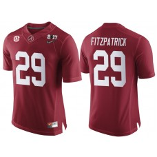 Alabama Crimson Tide #29 Minkah Fitzpatrick Crimson 2017 National Championship Bound Limited College Football Jersey