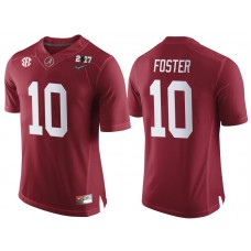 Alabama Crimson Tide #10 Reuben Foster Crimson 2017 National Championship Bound Limited College Football Jersey