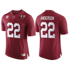 Alabama Crimson Tide #22 Ryan Anderson Crimson 2017 National Championship Bound Limited College Football Jersey