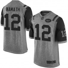 New York Jets #12 Joe Namath Gray Gridiron Limited Jersey