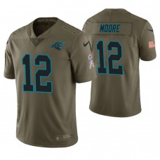 Carolina Panthers #12 D. J. Moore Olive Salute to Service Limited Jersey