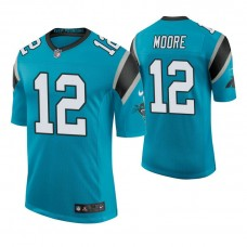 Carolina Panthers #12 D. J. Moore Blue Elite Jersey