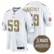Carolina Panthers #59 Luke Kuechly White Camo Salute to Service Jersey