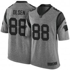 Carolina Panthers #88 Greg Olsen Gridiron Gray Limited Jersey
