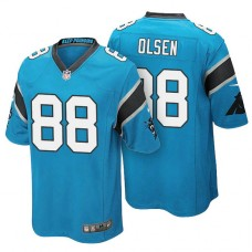 Carolina Panthers #88 Greg Olsen Light Blue Color Rush Limited Jersey