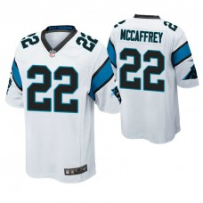 Carolina Panthers #22 Christian McCaffrey White Game Jersey
