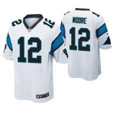 Carolina Panthers #12 D. J. Moore White Game Jersey