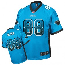 Carolina Panthers #88 Greg Olsen Blue Drift Fashion Jersey