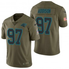 Carolina Panthers #97 Mario Addison Olive 2017 Salute to Service Limited Jersey