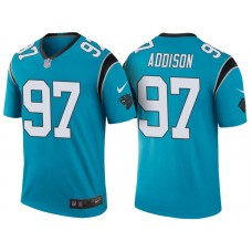 Carolina Panthers #97 Mario Addison Blue Color Rush Legend Jersey