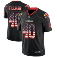 Arizona Cardinals #40 Pat Tillman Black 2018 USA Flag Fashion Color Rush Limited Jersey