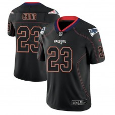 New England Patriots #23 Patrick Chung 2018 Lights Out Color Rush Limited Black Jersey