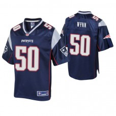 New England Patriots #50 Isaiah Wynn 2018 Draft Navy Player Pro Line Jersey
