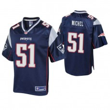 New England Patriots #51 Sony Michel 2018 Draft Navy Player Pro Line Jersey