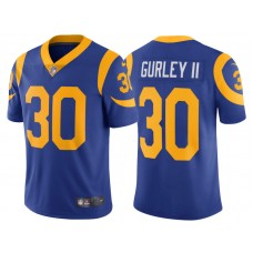 2017 Los Angeles Rams #30 Todd Gurley Royal Vapor Untouchable Limited Jersey