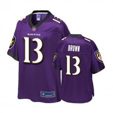 Youth Baltimore Ravens #13 John Brown Purple Player Jersey
