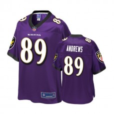 Youth Baltimore Ravens #89 Mark Andrews Purple Player 2018 Draft Jersey