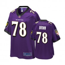 Youth Baltimore Ravens #78 Orlando Brown Purple Player 2018 Draft Jersey
