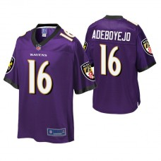 Youth Baltimore Ravens #16 Quincy Adeboyejo Purple Player Pro Line Jersey