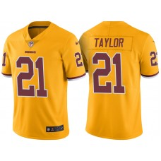 Light Up Thursday Night - Washington Redskins #21 Sean Taylor Gold Color Rush Limited Jersey
